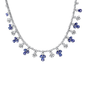 2014, Diamond and Jewelry Gallery, pic, tanzanite necklace, approved