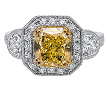 2014, diamond and jewelry gallery, pic, yellow diamond rectangle ring