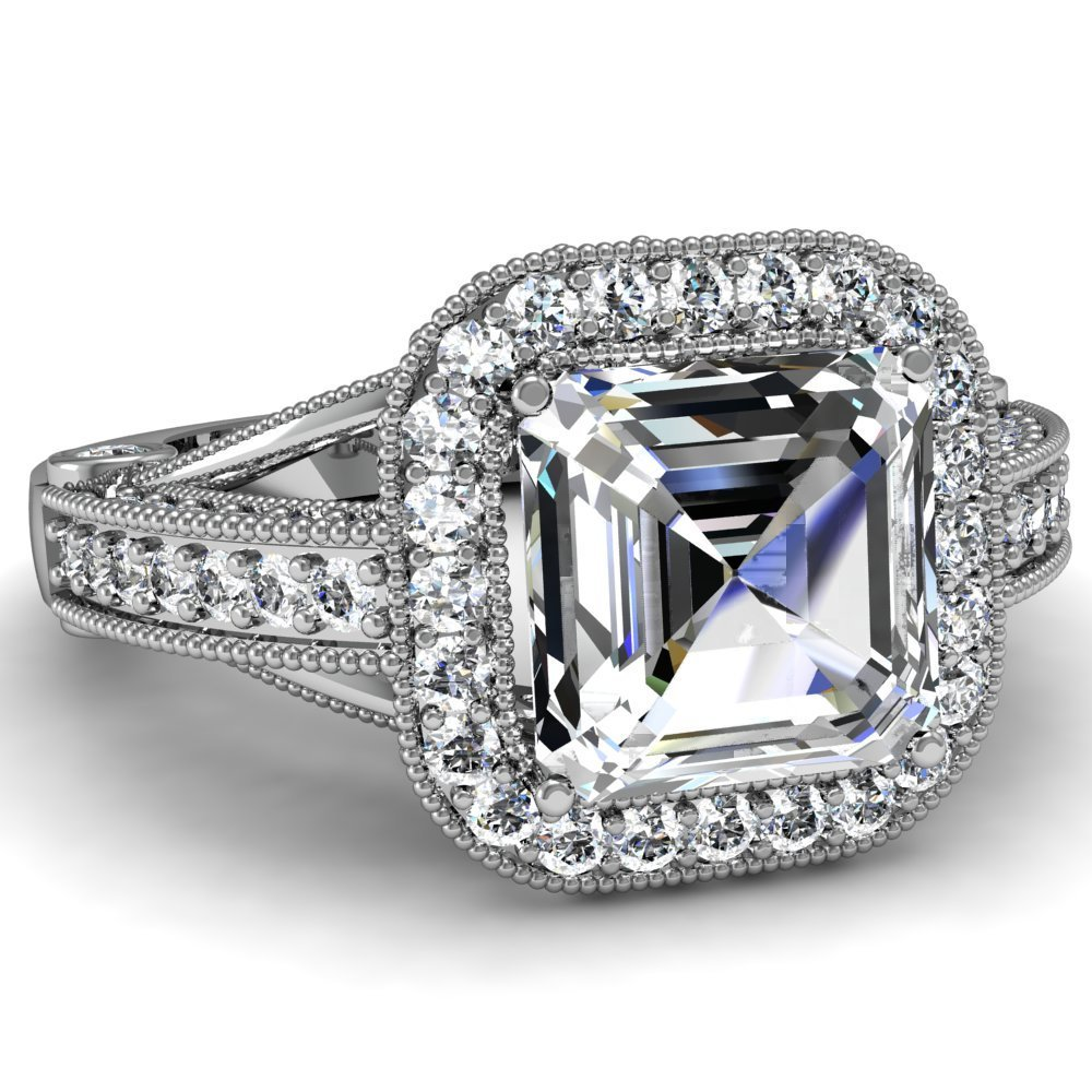 Asscher-Cut-Halo-Diamond-Engagement-Ring