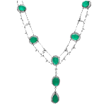 2014, diamond and jewelry gallery, pic, emerald double drape necklace, approved