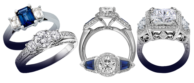 2015, Diamond and Jewelry Gallery, pic, Sapphire and DIamond Rings Banner, app