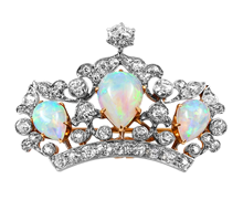 2015, Diamond and Jewelry Gallery, opal crown ring