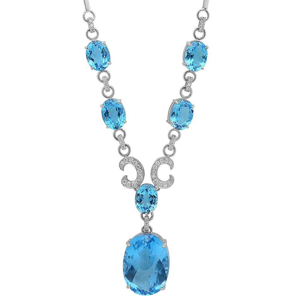2016, Johnny N, Blue topaz Necklace