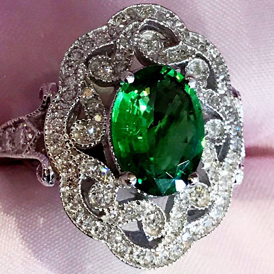 2017, Vintage Emerald Ring, Johnny N